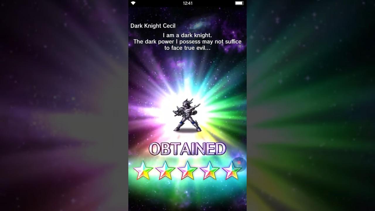 UK Verfügbarkeit ausgereifte Technologien Auf Abstand Brave Exvius: Dark Banner 11 Summons ☆Dark Knight Cecil☆