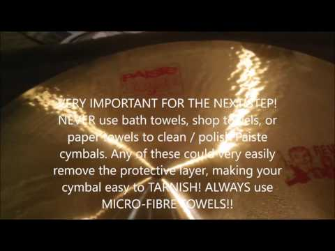 Cleaning Paiste Cymbals