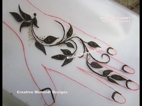 Stunning Leaf Leaves Gulf Style Henna Mehndi Design Tutorial For