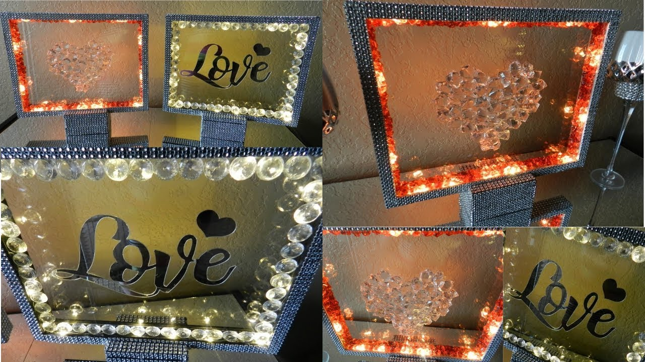 DIY Glam Dollar Tree Valentine's Day Home Decor 2019