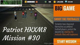 Sniper 3D Assassin BIG GAME Patriot HKXM8 Mission #30/30 Shoot The Footballs!