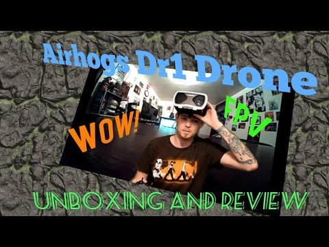 Air Hogs DR1 FPV Race Drone unboxing and first flight