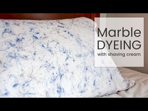 How To Dye Fabric Marble Dyeing With Shaving Cream Youtube