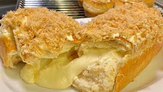 Bánh mì ruốc nhân phô mai tan chảy_Bếp Hoa