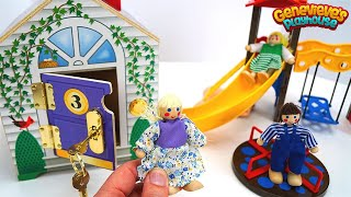 Repeat youtube video Videos for Kids - Best Learning Educational Locking Toys - Learn Colors, Animals - Doll House & Barn