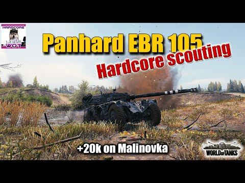 Panhard EBR 105 hardcore scouting, +20k, best World of Tanks replay