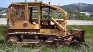cat d5 crawler dozer with winch