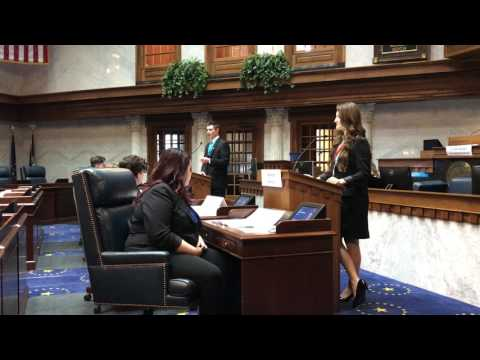 Indiana Youth and Government 2017 Senate Debate