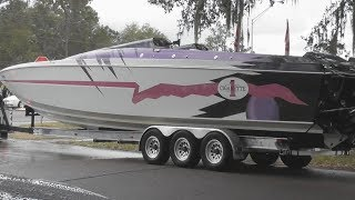 Cigarette Boat with Matching Truck Riverview Florida