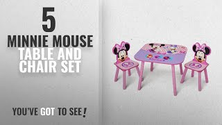 Top 10 Minnie Mouse Table And Chair Set [2018]: Delta Children Table & Chair Set, Disney Minnie