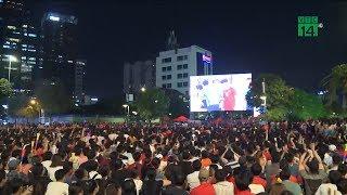 TP HCM: Hàng nghìn cổ động viên xuống đường ăn mừng chiến thắng   VTC14