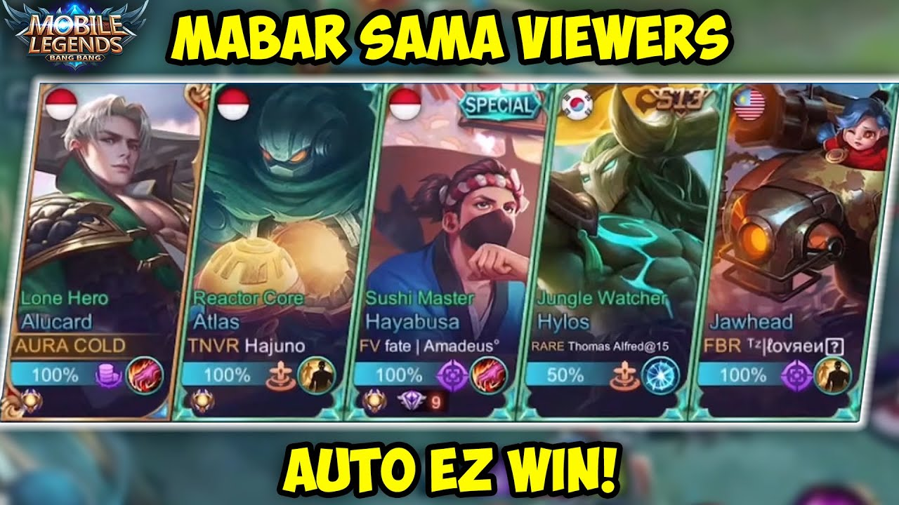 PUSH TOP GLOBAL ALUCARD SAMA VIEWERS!! AUTO TOP 1 KALO GINI!!!!