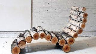 Посмотрите как сделать необычный и удобный лежак для дачи(Как сделать лежак. Хочу продемонстрировать: как из обычных древесных веток можно сделать замечательный..., 2014-06-16T14:04:16.000Z)
