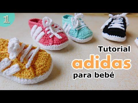 Como tejer zapatillas para bebes ( parte 12)