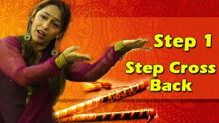 Learn Garba Dance Steps With Phulwa Khamkar - Step 1 - Cross Back - Navratri Special
