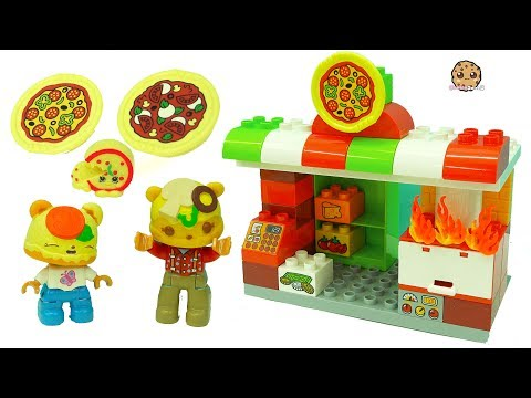 Pizza Fire At Restaurant - Fun Play Video with LEGO Duplo + Num Noms Toys
