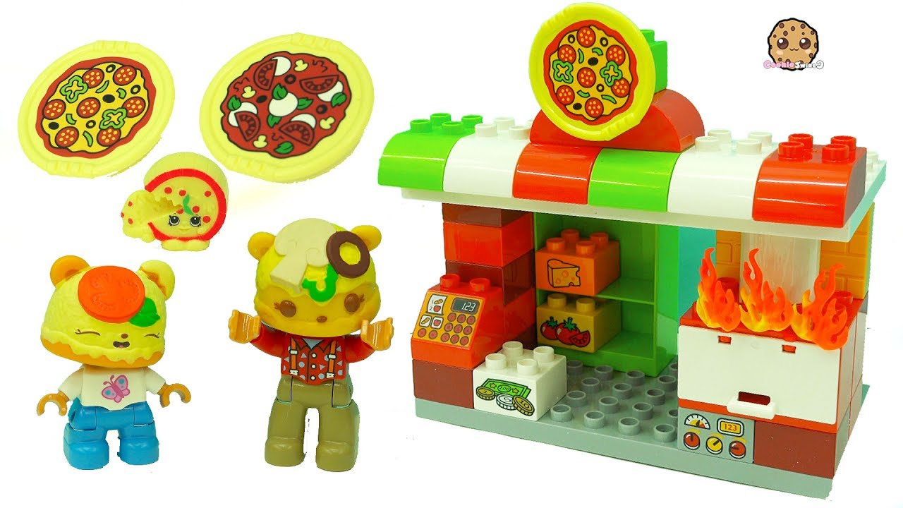 Toys For Restaurants : Pizza restaurant fun play video with lego duplo num
