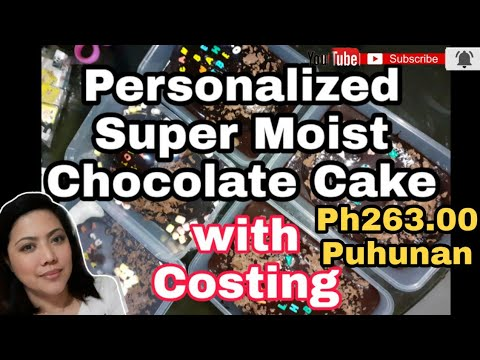 Super Moist Chocolate Cake | Complete with Costing | without oven