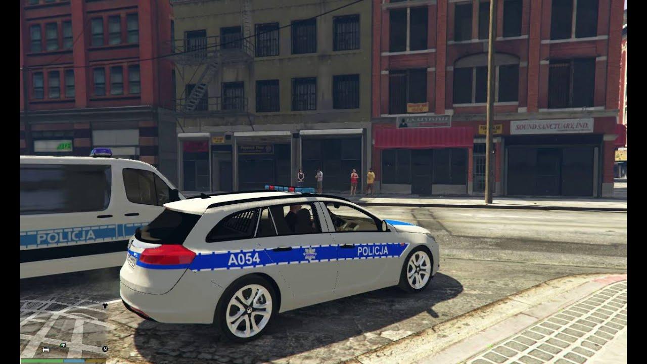 gta v   polish police opel insignia   gta 5 mod - youtube