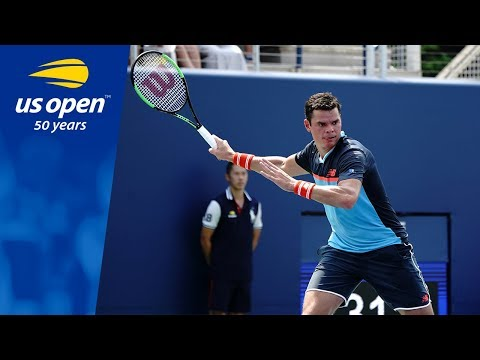 Milos Raonic Prevails Over Carlos Berlocq In His Return To The US Open