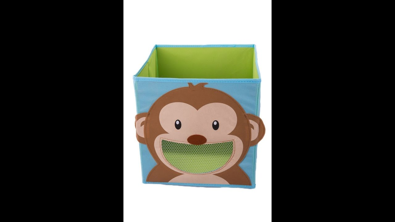 Smiling Monkey Collapsible Toy Storage Box and Closet Organizer for Kids - REVIEW - YouTube  sc 1 st  YouTube & Smiling Monkey Collapsible Toy Storage Box and Closet Organizer for ...