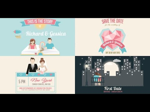 wedding invitation and love story slideshow | after effects, Powerpoint templates