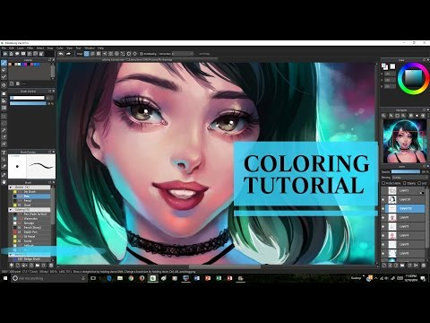 [MediBang] Coloring Tutorial + Speedpaint