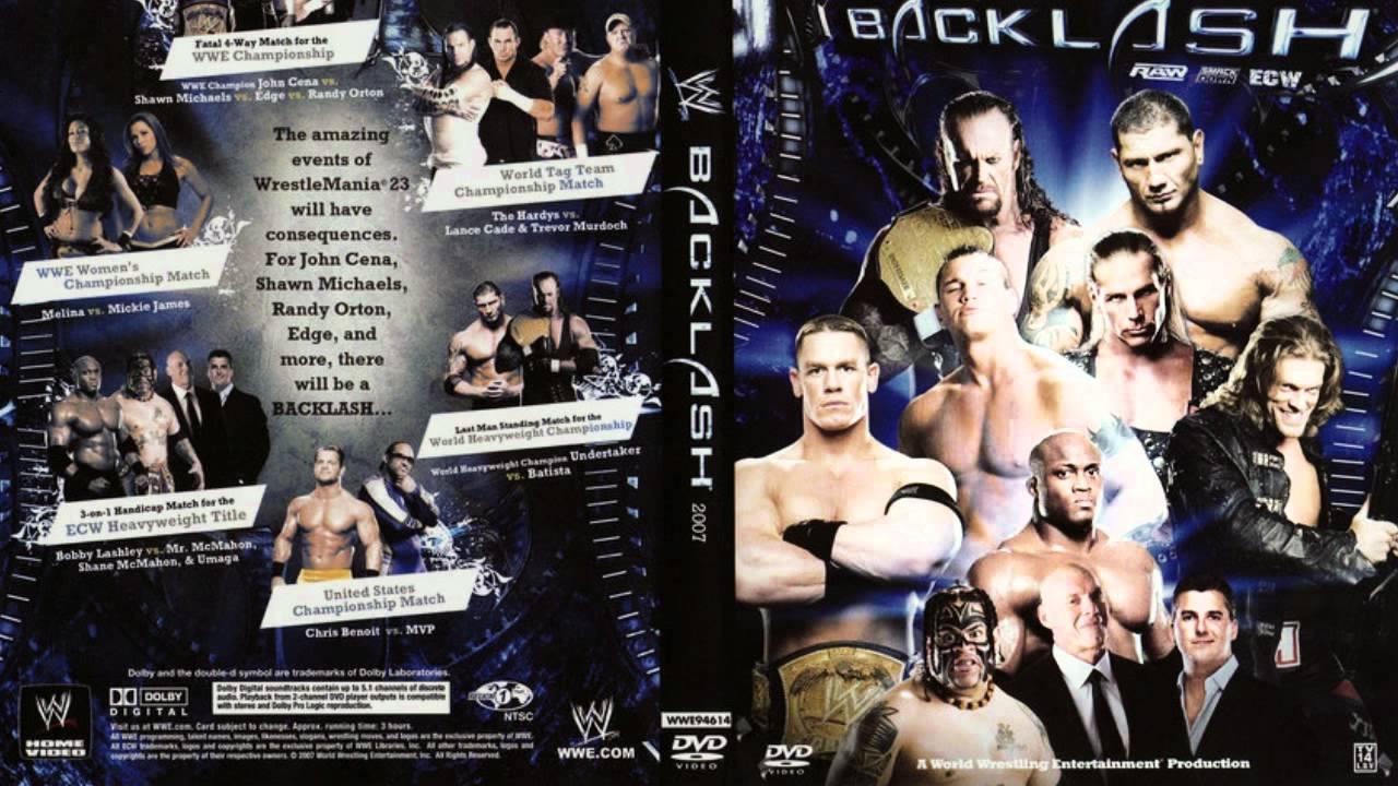 Resultado de imagen de WWE Backlash 2007