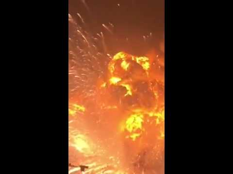 China Tianjin INSANE Explosion! *Warning Profanity*