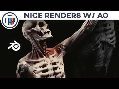 Blender 2.8 Eevee Tutorial - How to Use Ambient Occlusion (AO) to Make Your Renders POP!