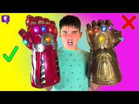 Power Gauntlet and Infinity Gauntlet Challenge by HobbyKidsTV