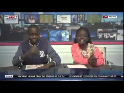 Video  Sitya Loss kids feature on Sky News