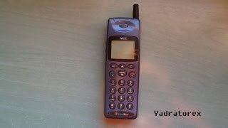 NEC GD9+ japanese cell phone. Retro bick phone from 1997. Vintage mobile phone