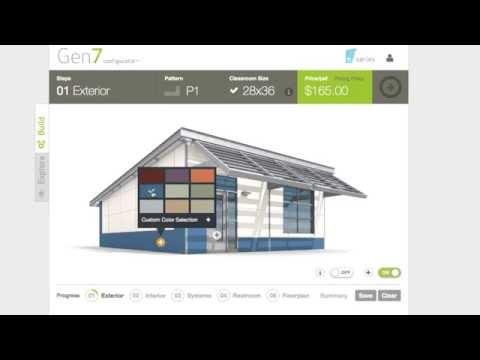 Gen7 Configurator: 3D Online Modular Classroom Configurator