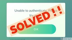 Fix Unable to authenticate Please try again-Pokemon Go Error in Android|Tablet