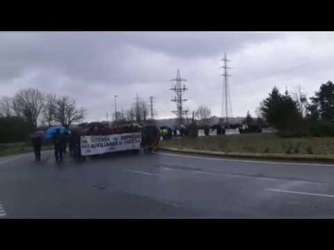 Nueva concentración de los trabajadores de las auxiliares de Endesa
