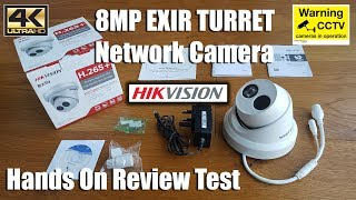 Hikvision DS-2CD2385FWD-I 8 MP 2.8mm Network Turret IP PoE CCTV Camera [Hands on Review and Test]
