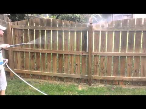 Wooden Fence Soft Wash