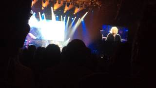 Barry Gibb performs With the sun in my eyes at the Phones 4U arena in Manchester