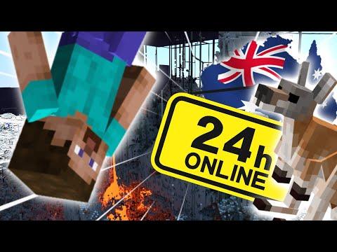 How I Survived 24 Hours on 2b2t AUSTRALIA