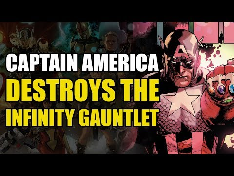 The Infinity Gauntlet Destroyed by Captain America (Avengers/New Avengers Vol 2: Momento Mori)