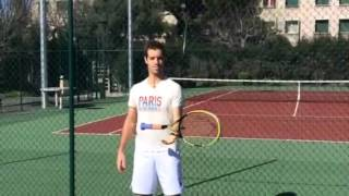 Richard Gasquet Shows Off His Amazing Racket Skills