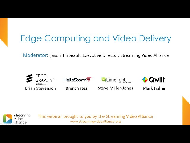 Edge Computing and Video Delivery