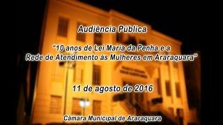 Audiência Pública - 10 anos de Lei Maria da Penha