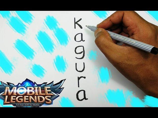 WOW,, menggambar KAGURA Mobile Legends dari kata KAGURA