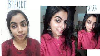 No Foundation /Concealer Makeup Look - Malayalam, Easy 3 Minutes Makeup