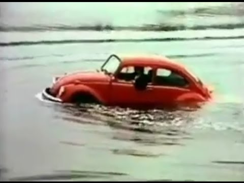 "1972 Volkswagen Beetle Commercial - ""Floating Beetle"""