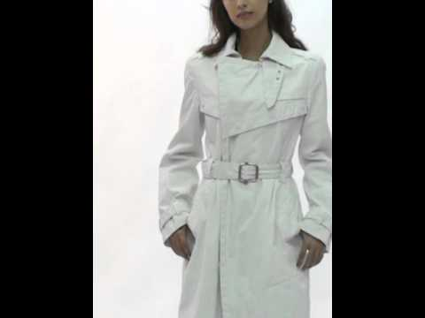 trench coat femme diesel blanc cass fowly 129 black gold edition youtube. Black Bedroom Furniture Sets. Home Design Ideas