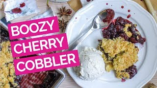 Cherry & Red Wine Cobbler Recipe