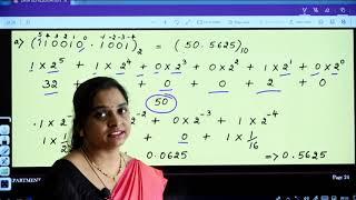 I PUC | Computer Science | Data Representation -03